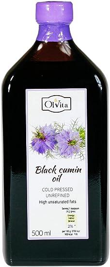 Aceite de comino negro crudo prensado en frío OlVita 500 ml