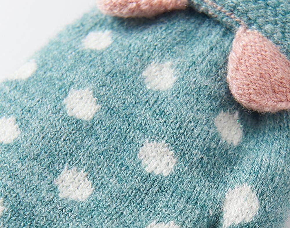 Kids Knit Gloves Cartoon Cat Full Finger Gloves
