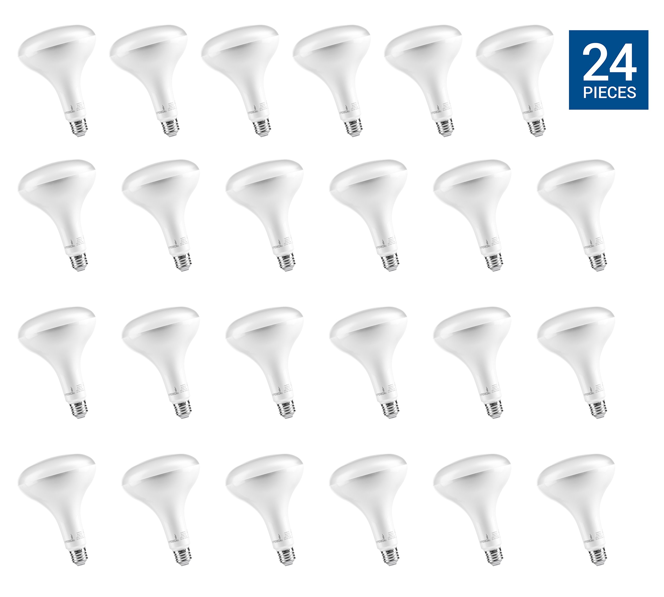 Hyperikon Vantage BR40 LED Bulb, 15W (100W Equivalent), 1340lm, 4000K (Daylight Glow), Dimmable, Flood Light Bulb, E26 Base, UL & ENERGY STAR - Great for Security Lights, Kitchen, Rooms (24 Pack)