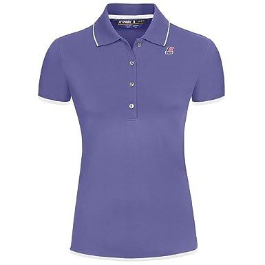 K-Way ELSIE STRETCH BINDING WHITE-BLUE FRANCE  Amazon.co.uk  Clothing b2be177e753