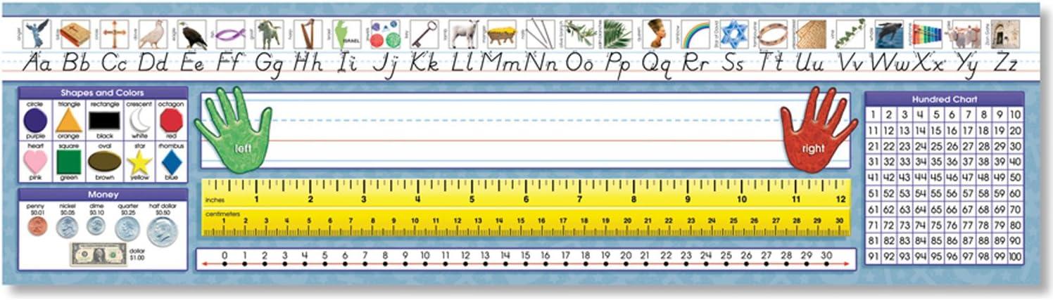 Amazon Com North Star Teacher Resource Modern Manuscript Desk Tape Christian Primary Plates Toys Games