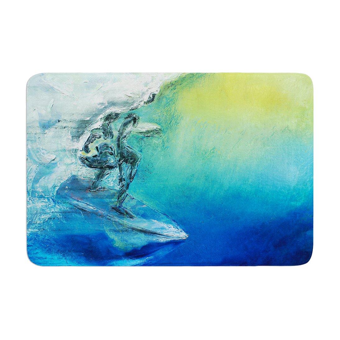 Kess InHouse 'Josh Serafin September High Blue Green Memory Foam Bath Mat, 17 by 24'