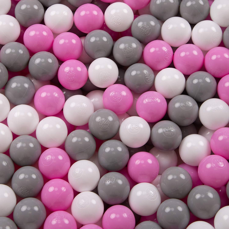 KiddyMoon 200 /∅ 6CM Palline Morbide Colorate Per Piscina Bambini Fatto In EU Nero//Bianco//Blu//Rosso//Giallo//Turchesa