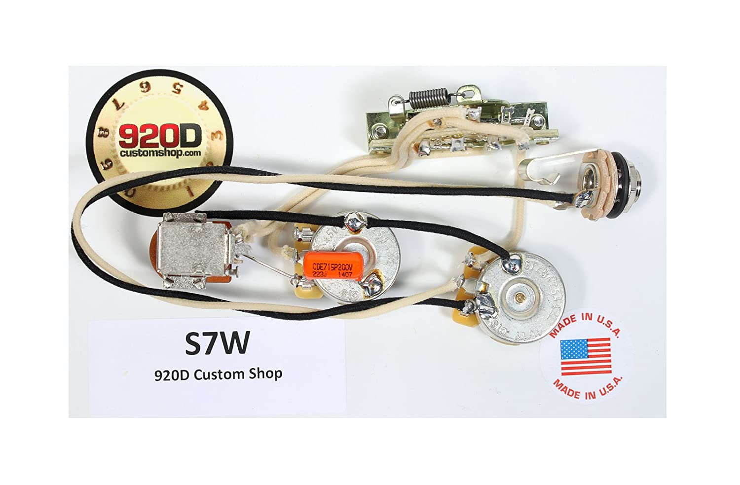 920d Fender Strat Stratocaster 7 Way Wiring Harness Push Pull Pot For Neck On