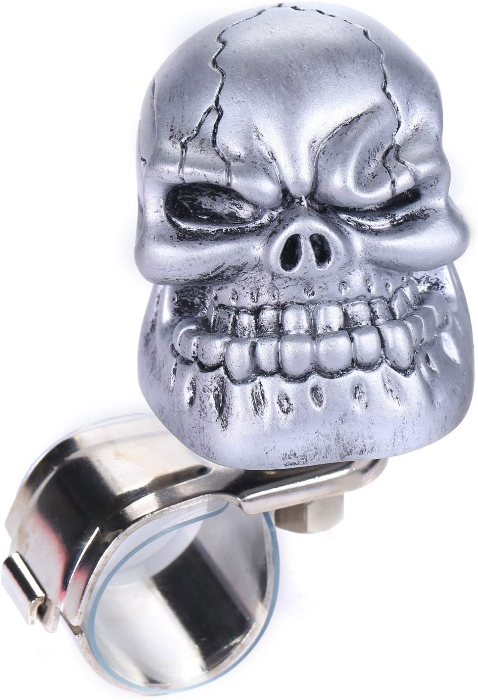 Silver Bashineng Power Suicide Spinner Car Steering Wheel Knob Assist Ball Fit Most Truck SUV Cars