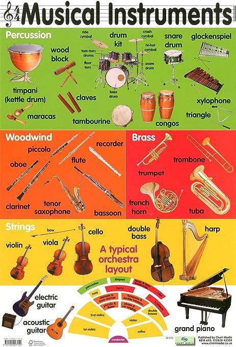 Instrumentos musicales de la orquesta Póster de 40 x 60 cm: Amazon ...