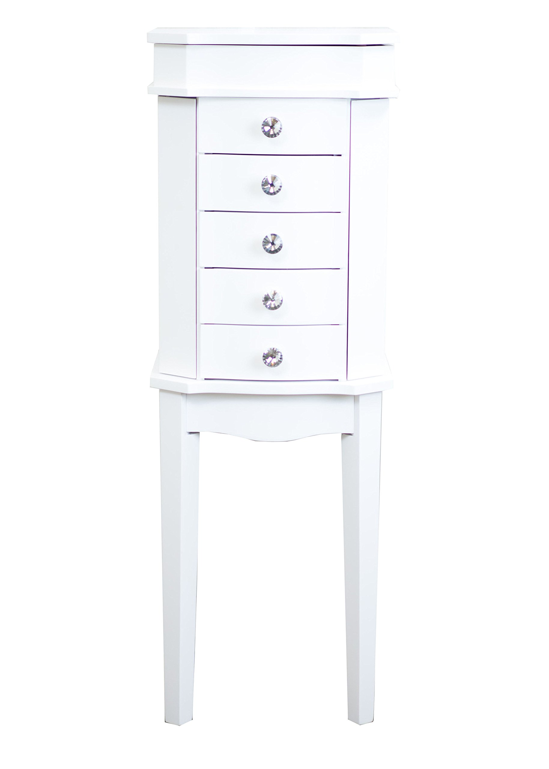 Hives & Honey Meg Jewelry Armoire in White by Hives and Honey