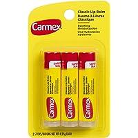 Carmex Classic Lip Balm, Original Stick, 3 Pack