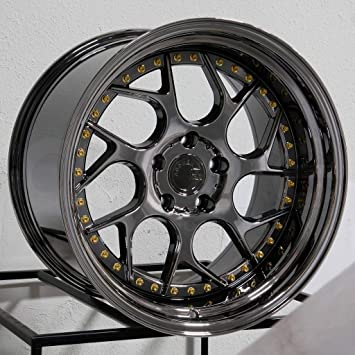 4 18x9.5 Aodhan DS01 DS1 5x114.3 30 Gold Vacuum Wheels Rims Set 73.1