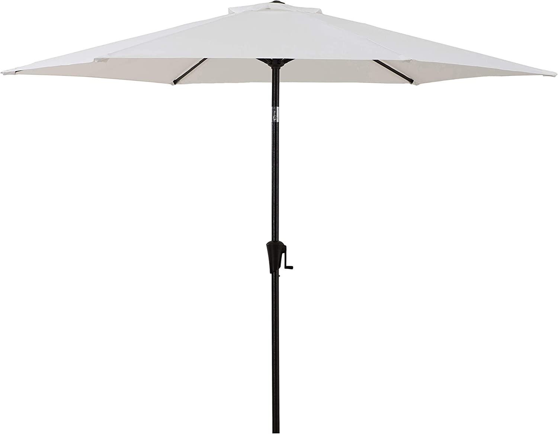 AmazonBasics Outdoor Market Patio Steel Umbrella - 9 Foot, White