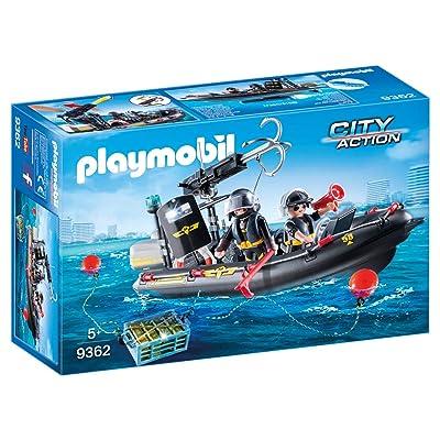 PLAYMOBIL Tactical Unit Boat: Toys & Games [5Bkhe1406746]