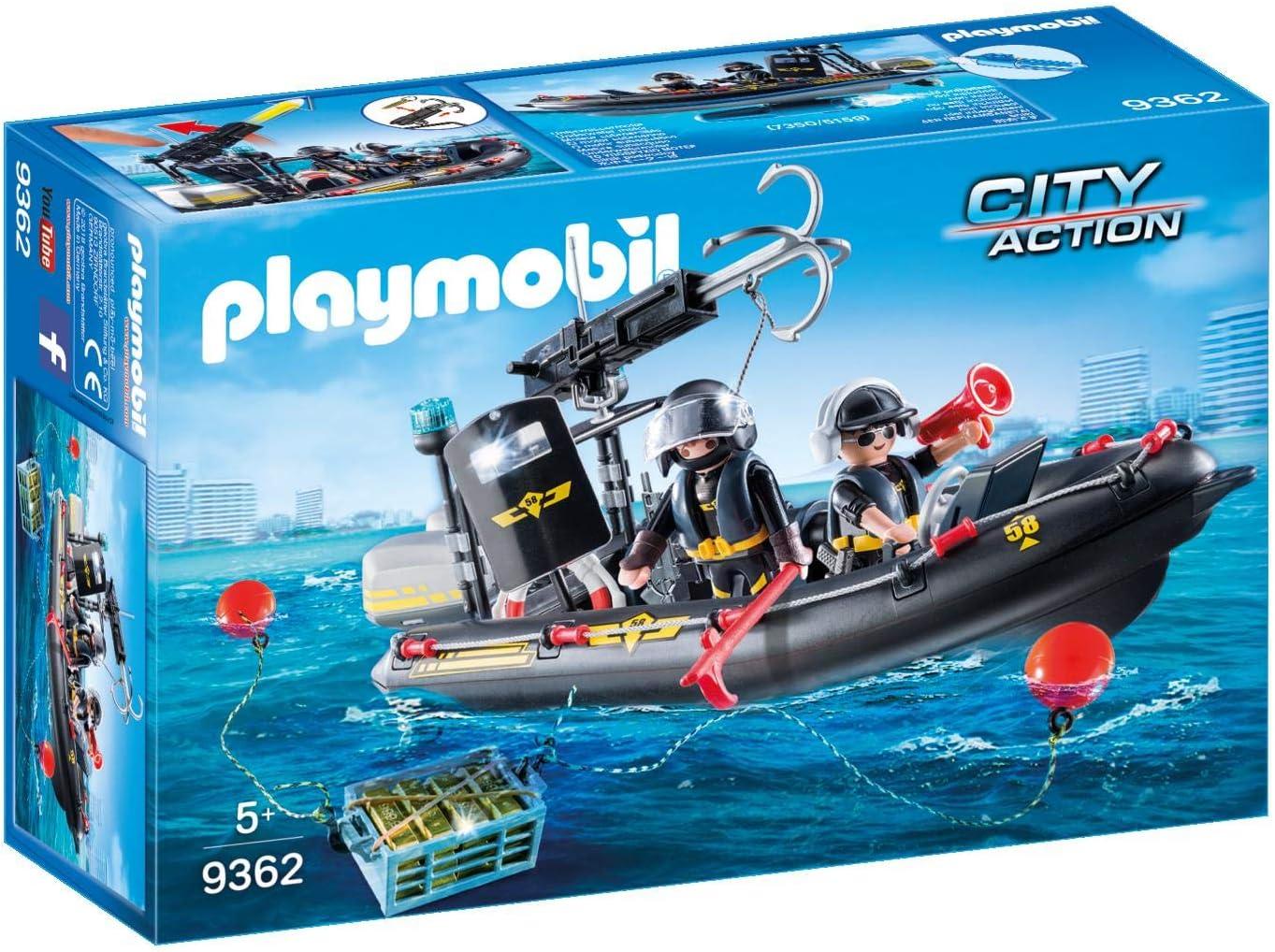 PLAYMOBIL City Action Lancha de las Fuerzas Especiales, Flotante, a Partir de 5 Años (9362)
