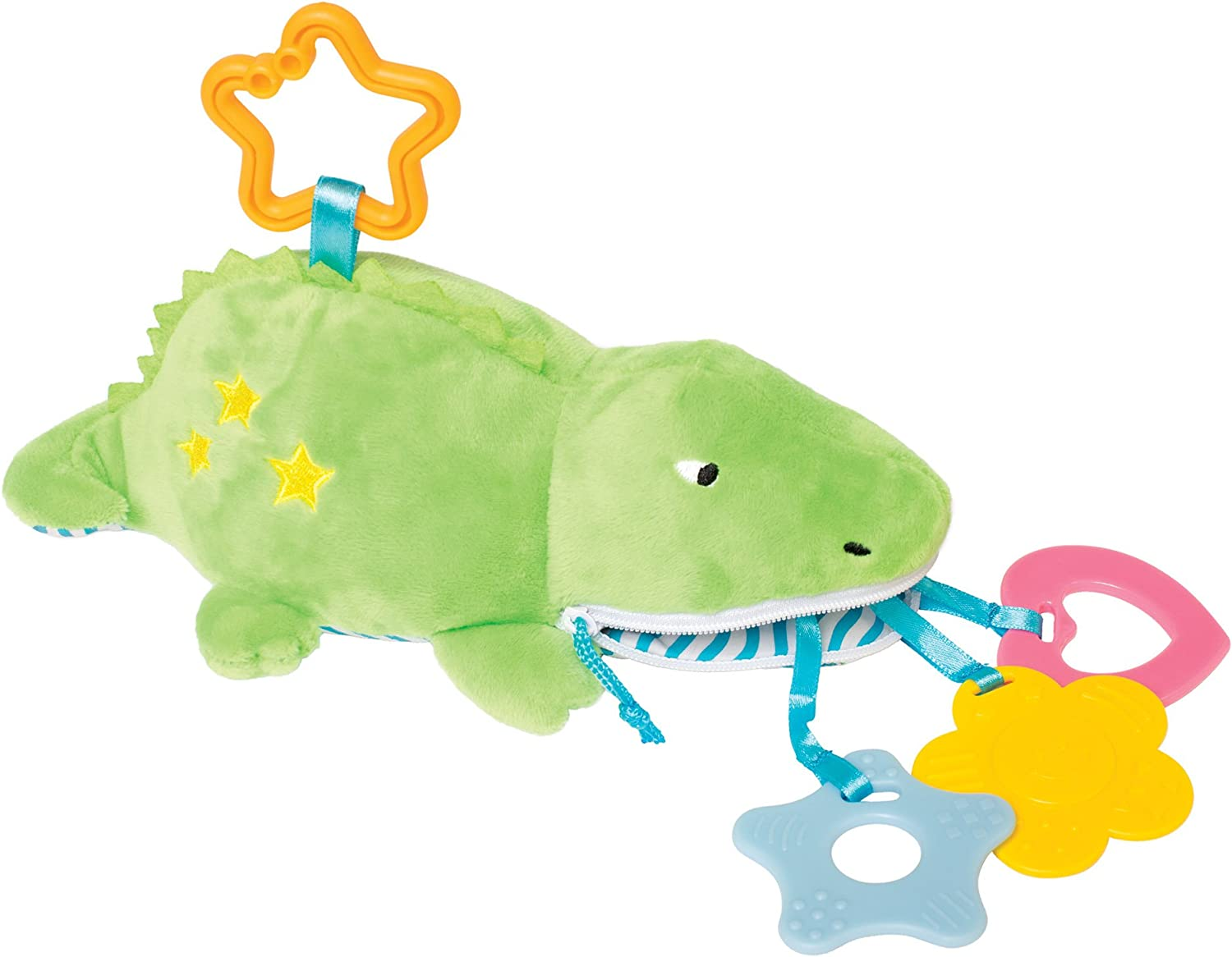Manhattan Toy Gabby Gator Zip /& Play Teether and Travel Baby Toy