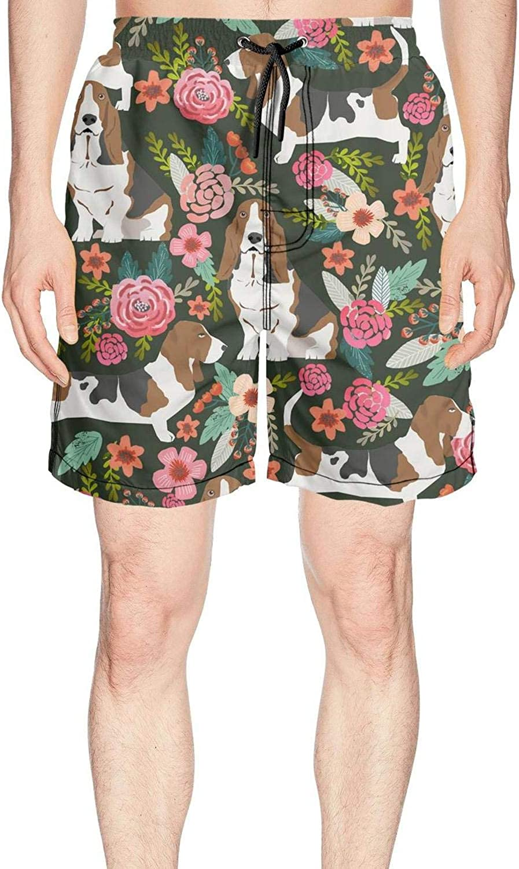 YOIGNG Boardshorts Vintage Narwhal Mens Quick Dry Swim Trunks Beach Shorts