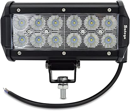 DOT 2x 7INCH 36W LED WORK LIGHT BAR SPOT BEAM DRIVING OFFROAD LAMP 4WD ATV