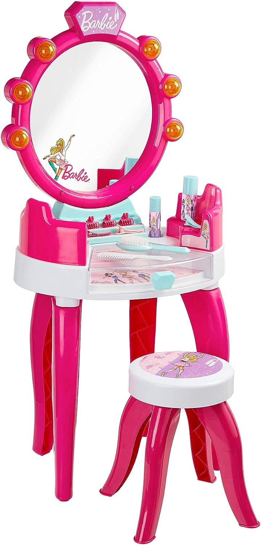 Theo Klein- Barbie Salón De Belleza con Accesorios, Luz Y Sonido, Version Mesa, Juguete, (5391) , color/modelo surtido