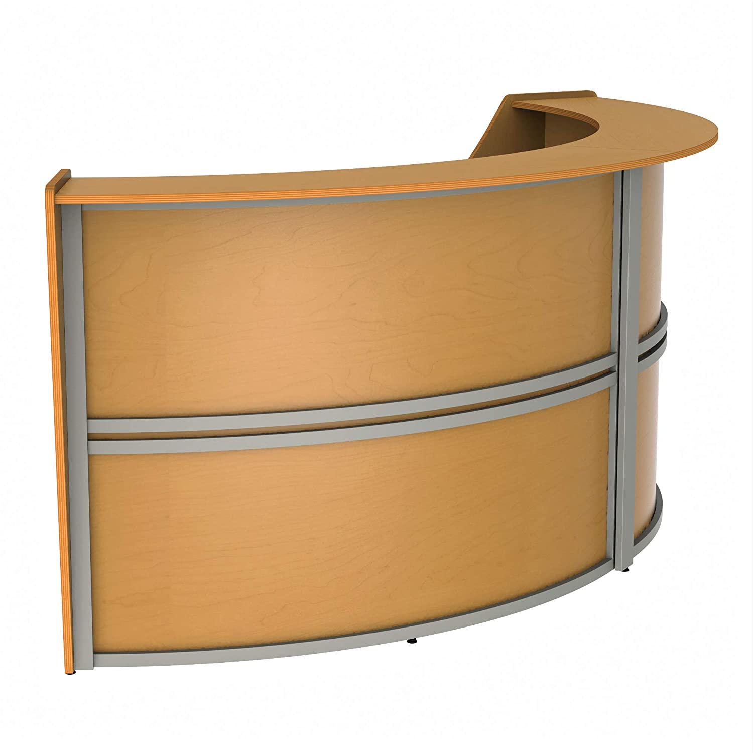 Amazon.com: Linea Italia Curved Reception Desk, Madera ...