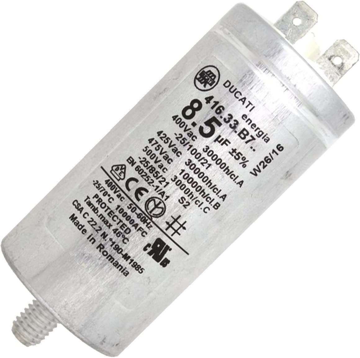 Condensador Permanent 8.5µf 400 V – Secadora – Ariston Hotpoint ...