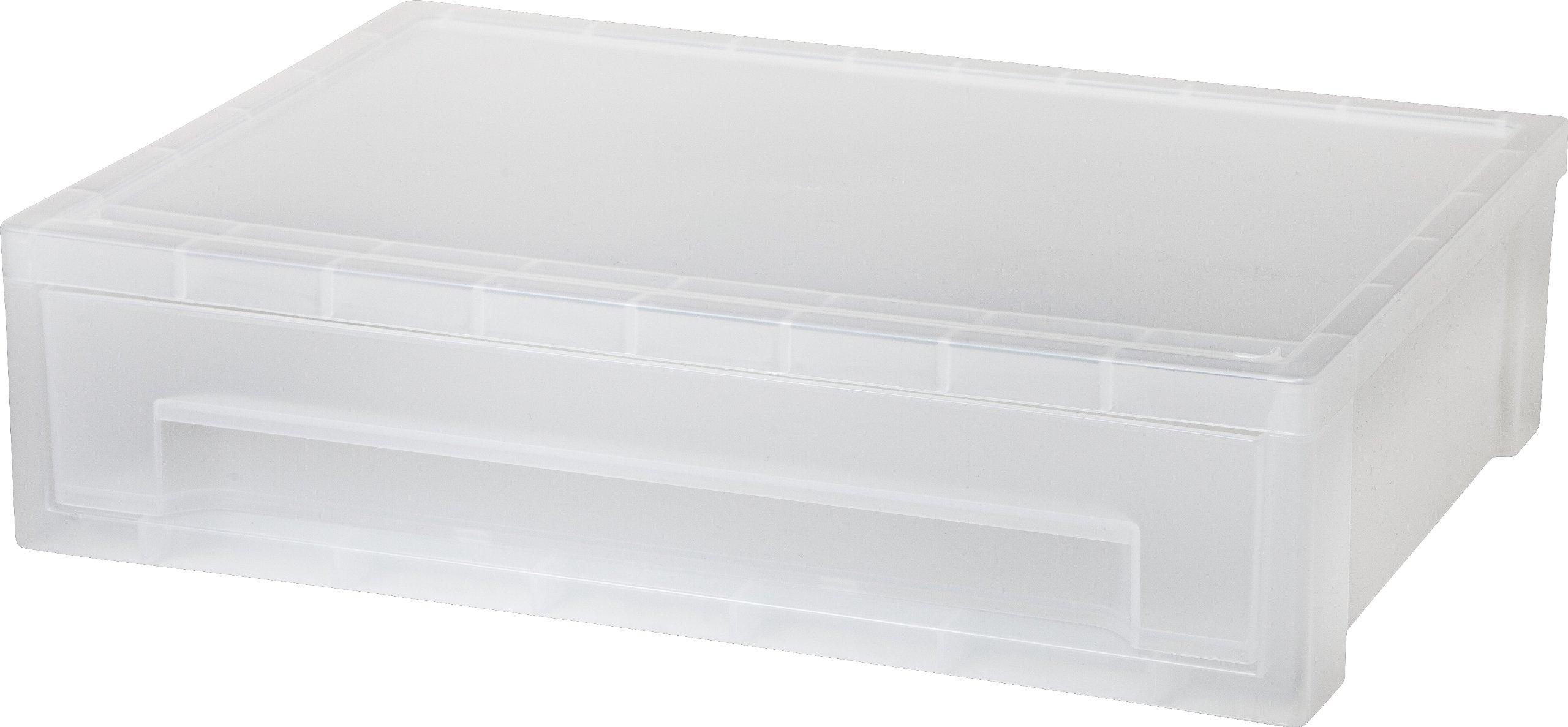 IRIS Large Desktop Stacking Drawer, 6 Pack