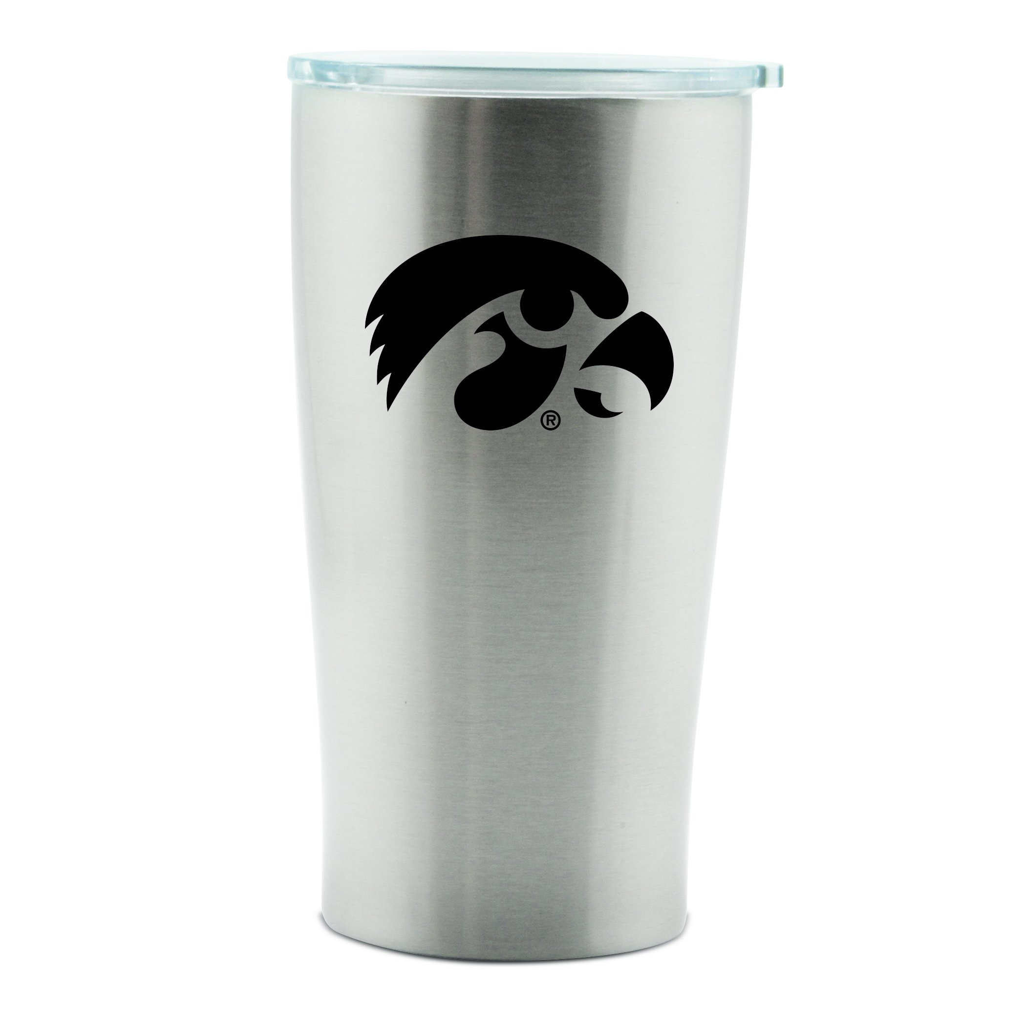 NCAA Iowa Hawkeyes 14oz Double Wall Stainless Steel Thermo Cup with Lid by Duck House