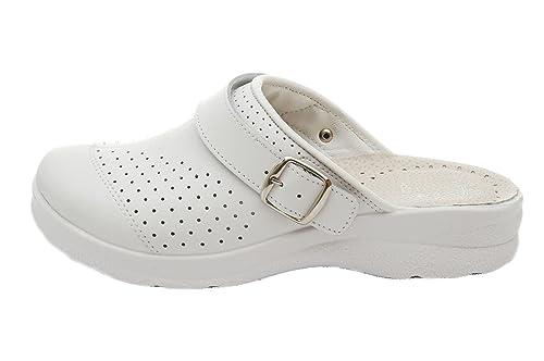 Dr Punto Rosso Medical Comfort 812SBR Zuecos Zapatos Zapatillas de Cuero Para  Mujer  Amazon.es  Zapatos y complementos 4794785884d