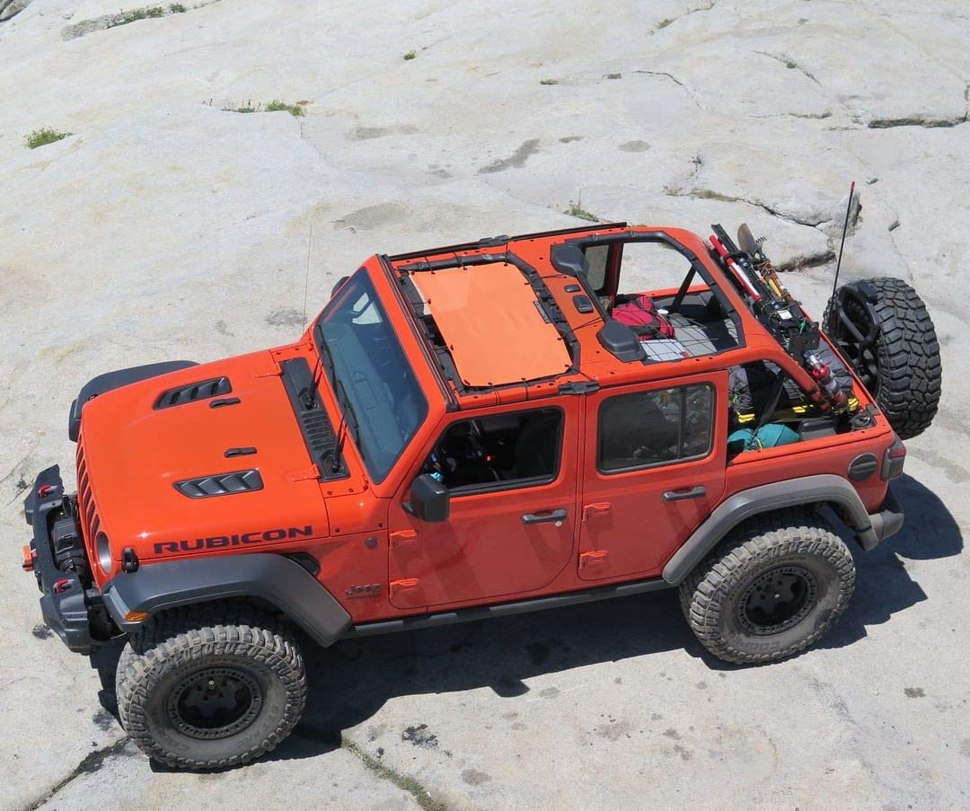door or 4-door JL and JLU Unlimited Jeep Wrangler 2 ALIEN SUNSHADE Jeep Wrangler JL Front Sunshade Mesh Top for 2018