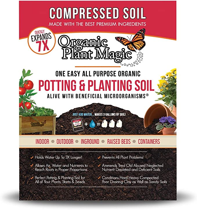 Organic Plant Magic Potting Soil with Earthworm Castings - Compression