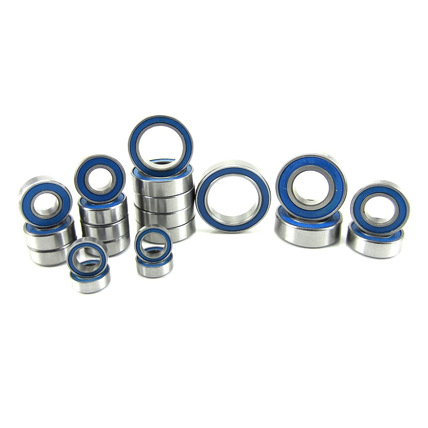 Traxxas Slash 4x4 VXL ABEC 3 Precision Ball Bearing Kit BU (21) Rubber Seals