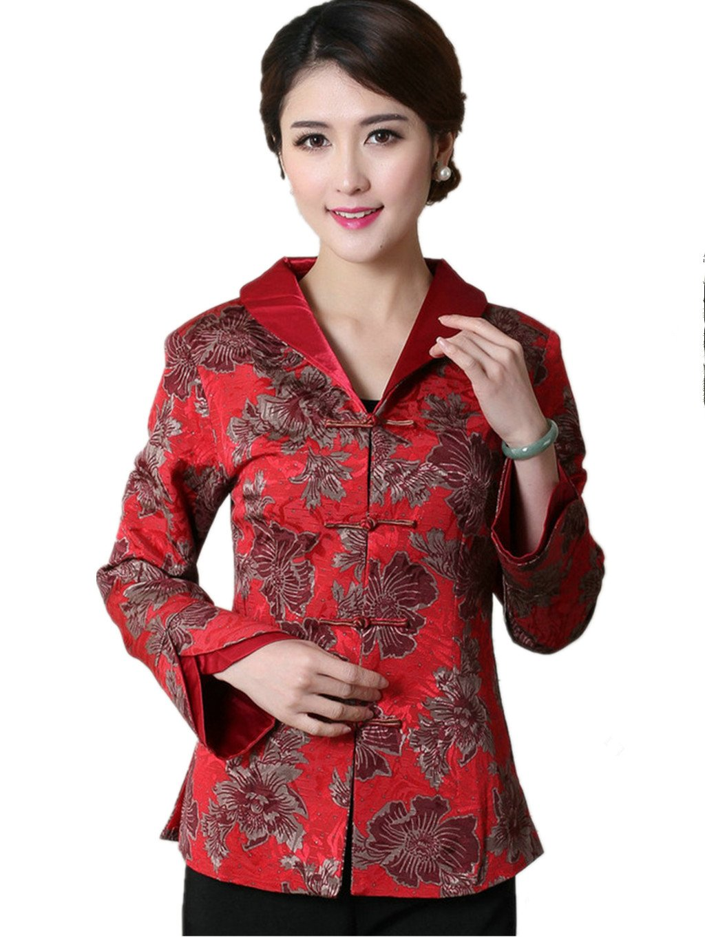 Womens Tang Suits National Costume Characteristic Dress Chinese Style Coats Retro Jackets Full Dress Formal Dress Womens Jackets Business Jackets by Womens Tang Suit