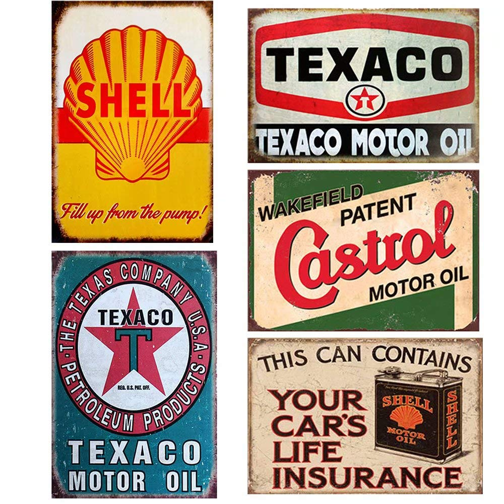 This Can Contains Your Car/'s Life Insurance shell oil sign garage art US Seller