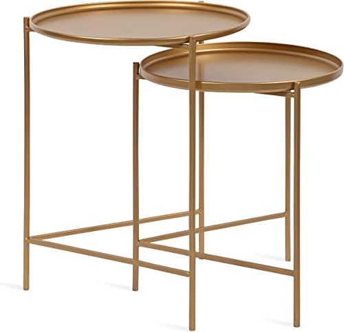 Kate and Laurel Ulani Round Metal Accent Table