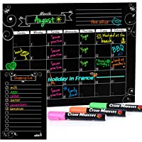 """Cedar Markers 16""""x12"""" Magnetic Calendar for Refrigerator and Magnetic Grocery List for Fridge with Free Chalk Markers…"""