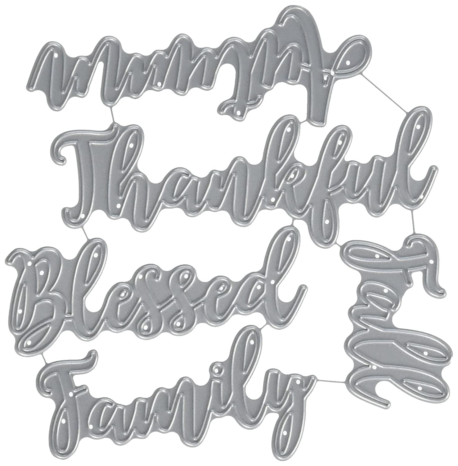 Echo Park Paper Company EPPDIE581 Blessed Family Word Die Set