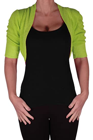 58de59cc8a714 Eye Catch Kara Short Sleeve Knitted Bolero Shrug One Size at Amazon ...