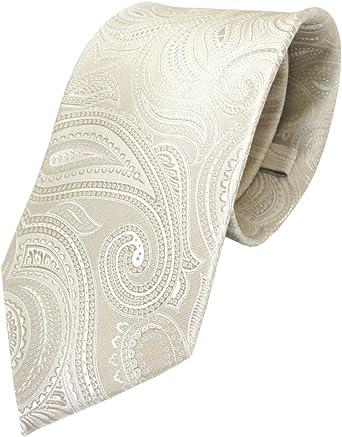 TigerTie - Corbata - beige crema plata paisley: Amazon.es: Ropa y ...