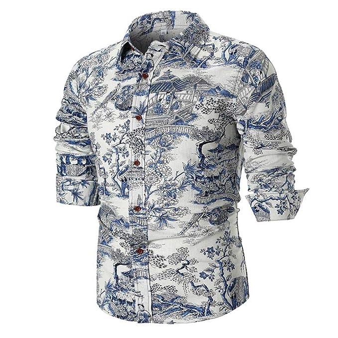 vari colori 8d799 b44f4 POLPqeD Uomo Camicia personalità Fashion Men ' s Casual Slim ...