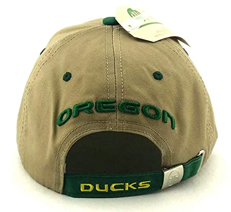 Amazon.com   Donegal Bay Oregon Ducks New Vault Puddles Tan Khaki Beige  Green Adj Strapback Era Hat Cap   Sports   Outdoors eeab880dba66