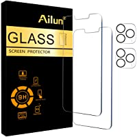 Ailun 2 Pack Screen Protector Compatible for iPhone 13 Pro Max [6.7 inch] Display 2021 with 2 Pack Tempered Glass Camera…