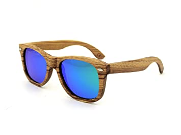 ynxing marco de madera Material Fashion gafas de sol anti-UV gafas de sol polarizadas
