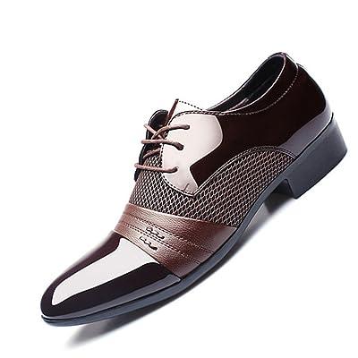 Susan1999 Men Dress Shoes Business Flat Black Brown Breathable Low Top Formal Shoes Plus Size 38-47