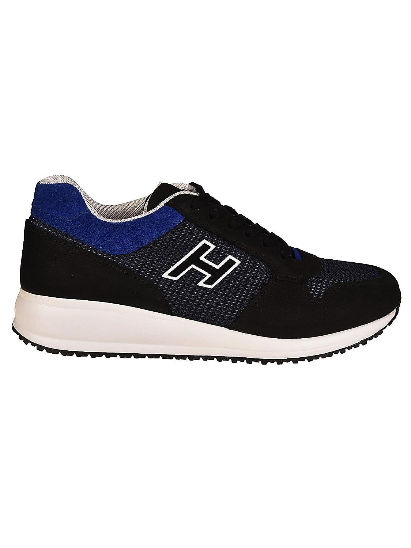 Hogan メンズ HXM2460K680IGB972F ブルー/ブラック セーム 運動靴 B07DMNTZ9N