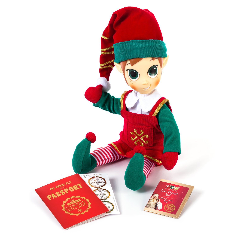 c92f21afe1565 Portable North Pole 17120413 Girl Elf Plush Toy  Amazon.co.uk  Toys   Games