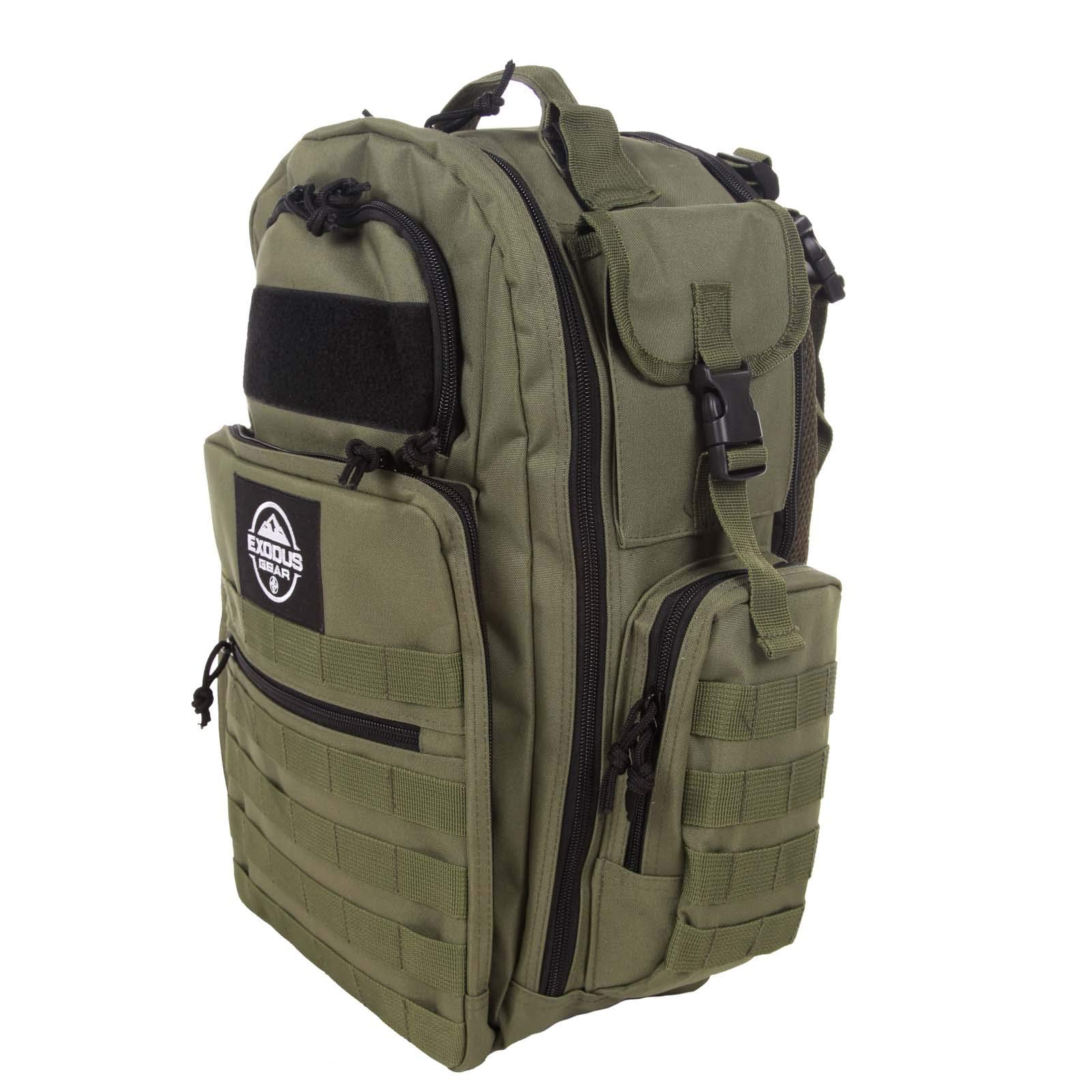 Diaper Bag Backpack by Exodus Gear + Adventure Diaper Bag with Changing Pad + Daddy Diaper Bag for Men and Woman + Hiking Diaper Bag + Dad Diaper Bag + Unisex Diaper Bag + Baby Care (Green) by Exodus Gear (Image #10)