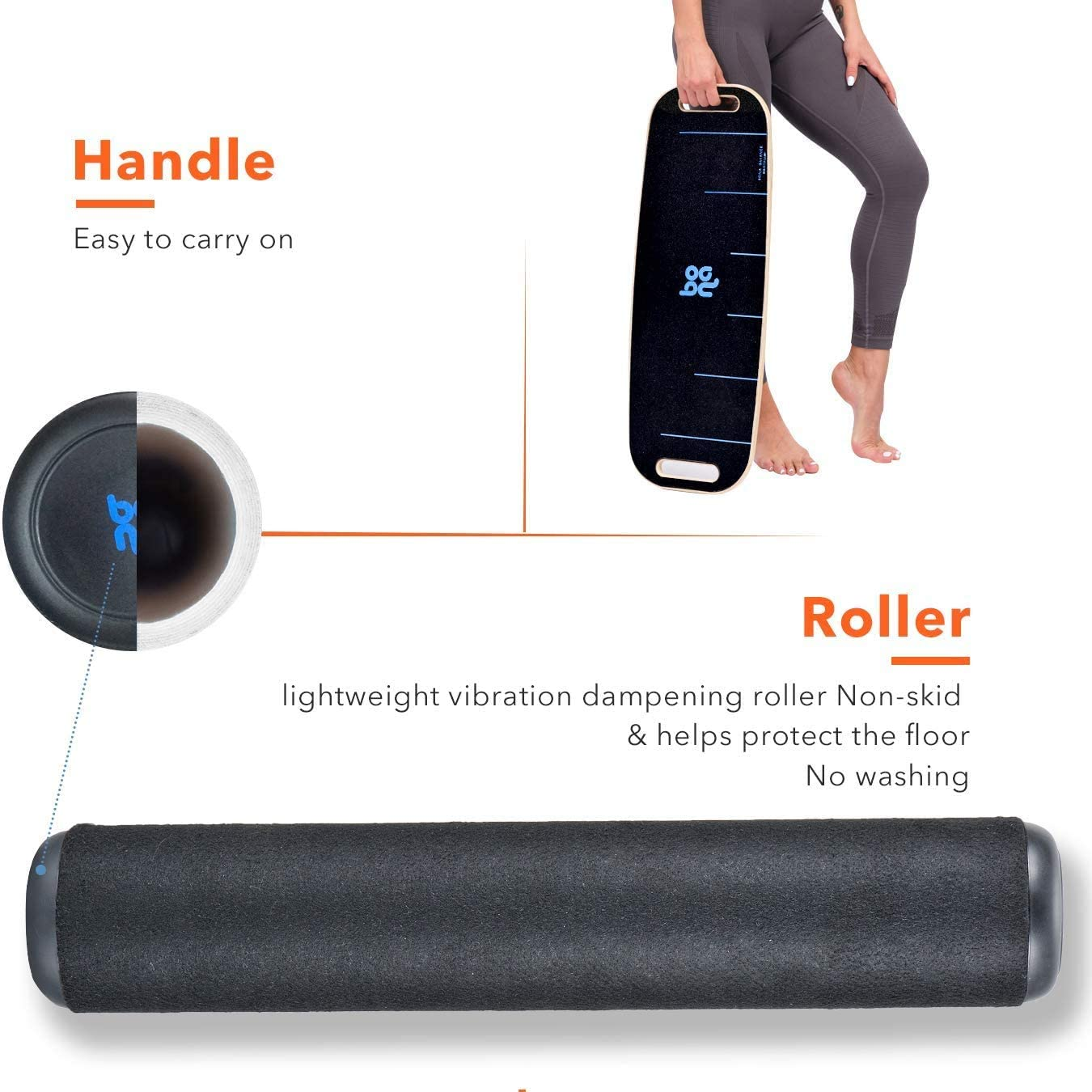 Bona Balance Board Trainer for Fun, Challenging Fitness and Sports Training 3 Different Distance Options 4, 12 and 21 inches