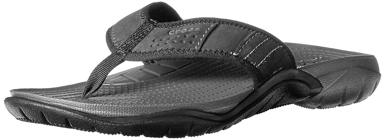 Crocs Swiftwater M - Sandalias de Cuero Hombre 39/40 EU|Gris (Graphite/Black)
