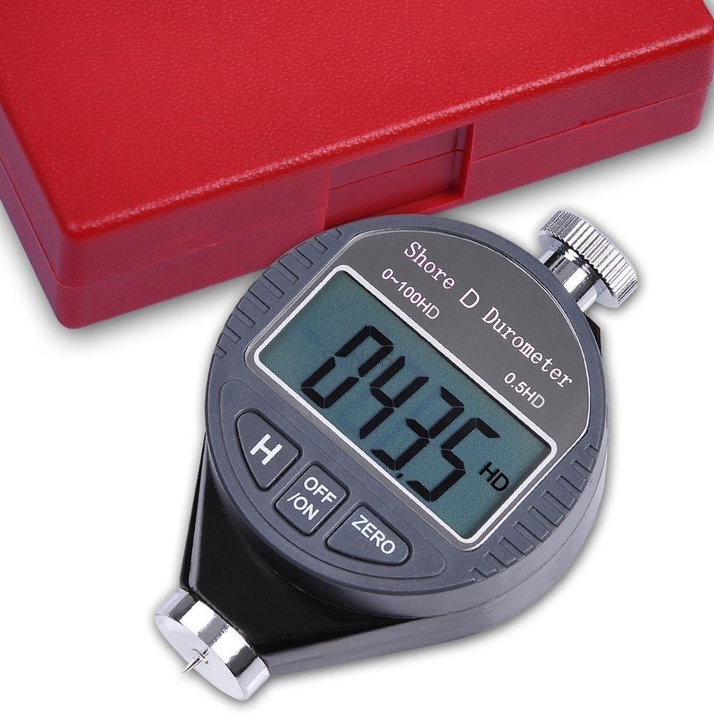 New Digital Shore Durometer Rubber Hardness Tester Meter LCD Display Type D XF ET0017-D