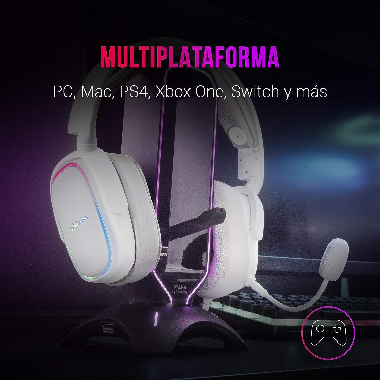 Mars Gaming Mhax Weiß Rgb Gaming Kopfhörer Abnehmbares Elektronik