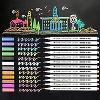 Metallic Marker Pens, 12 Assorted Color Sheen Glitter Painting Pen Card Making, Birthday Greeting, DIY Photo Album,Scrap…
