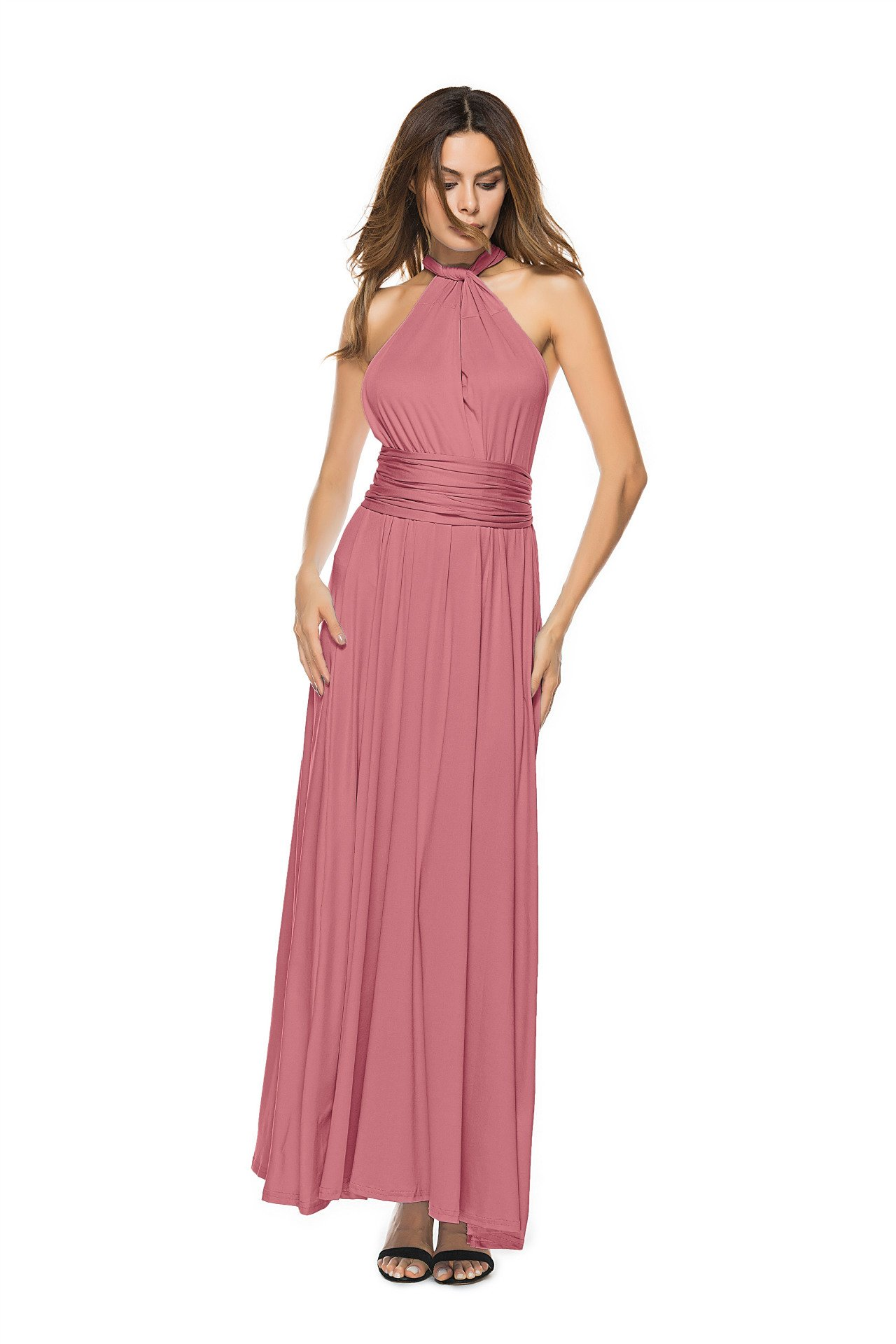 17bcfebfe845 ... Women's Convertible Multi Way Wrap Maxi Dress Long Party Grecian Dresses.  ; 