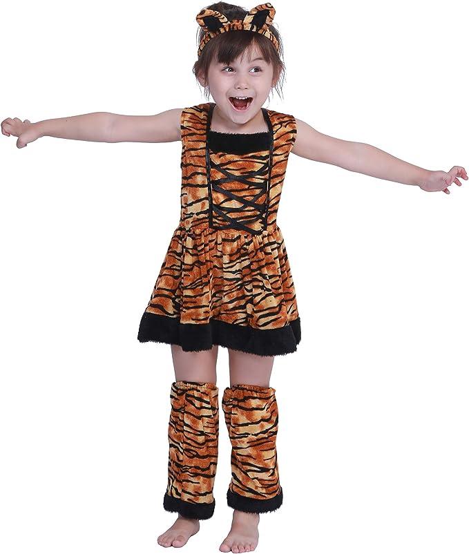 EraSpooky Tigre Niña Falda Disfraz Halloween: Amazon.es: Ropa y ...